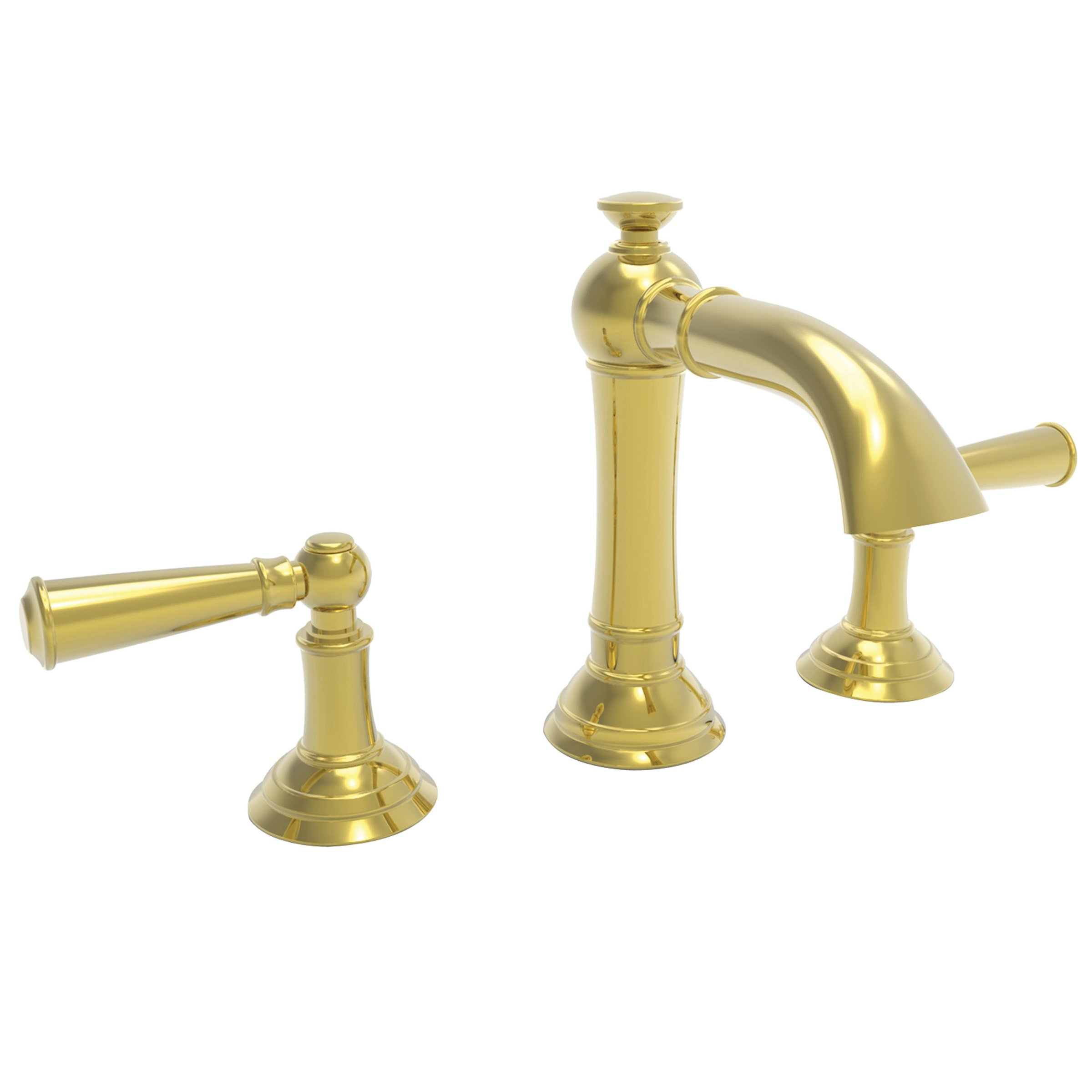 Newport Brass 2410 Widespread Lavatory Faucet Lever Handles Tall Country Base Newport Brass