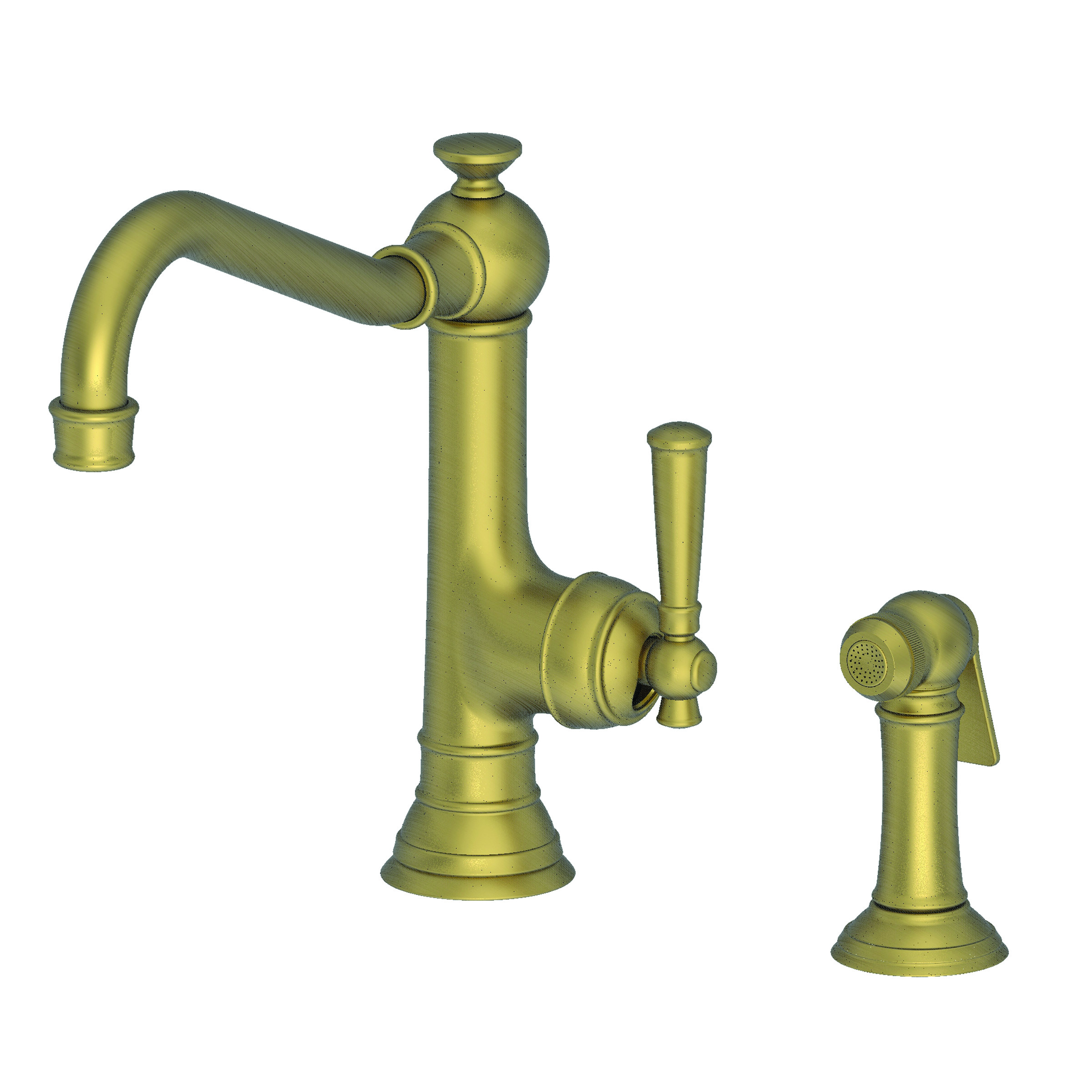 Newport Brass 2470-5313 Jacobean Kitchen Faucet With Side