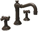 Newport Brass 2460 Widespread Lavatory Faucet Country Base Cross Handles.