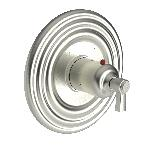 "3-914TR  3/4"" Round Thermostatic Trim Plate With Handle"